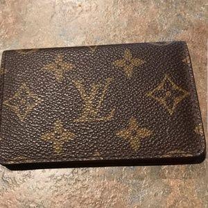Auth Vintage Louis Vuitton Monogram Card Wallet